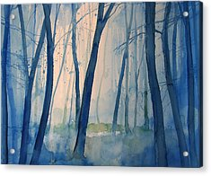 Fog In The Forest Acrylic Print by Alessandro Andreuccetti