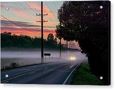 Fog In The Hollows Acrylic Print