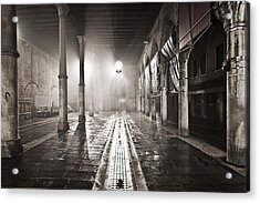 Fog In The Market Acrylic Print by Marco Missiaja