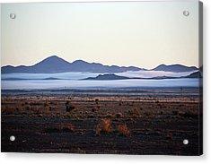Fog In The Peloncillo Mountains Acrylic Print