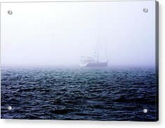 Fog On The Bay 1 Acrylic Print by Alan Hausenflock
