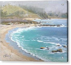 Fog On The Coast Acrylic Print by Sharon Weaver