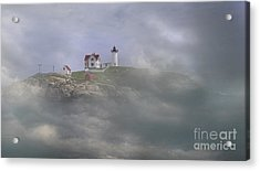 Fog On The Nubble Acrylic Print by Skip Willits