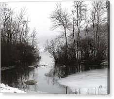Fog On The Ponagansett Acrylic Print