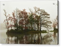 Fog On The River Acrylic Print by Bill Perry