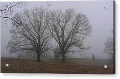 Fog On The Yorktown Battlefield Acrylic Print