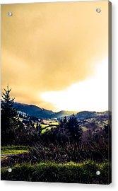 Fog Over Farmland Acrylic Print