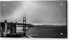 Fog Over The Golden Gate Bridge Acrylic Print