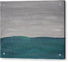 Fog Over The Ocean Acrylic Print