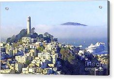 Fog Rolling In Acrylic Print