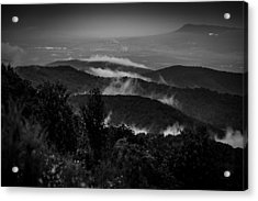 Fog Rolls In Acrylic Print by Robert Davis