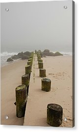 Fog Sits On Bay Head Beach - Jersey Shore Acrylic Print