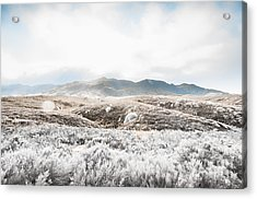 Fog Snow And Ice Landscape Acrylic Print by Jorgo Photography - Wall Art Gallery