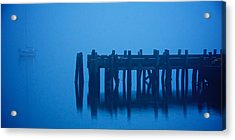 Shrouded In Fog, Morro Bay Acrylic Print