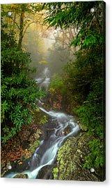 Foggy Autumn Cascades Acrylic Print