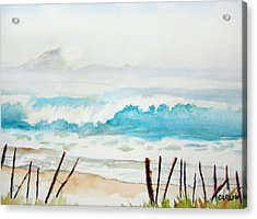 Foggy Beach Acrylic Print