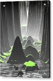 Foggy Canyon Walls Acrylic Print