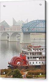 Foggy Chattanooga Acrylic Print