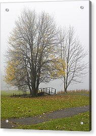 Foggy Crossing Acrylic Print