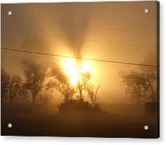 Heart In A Foggy Dawn Acrylic Print