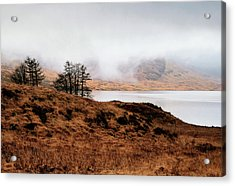 Foggy Day At Loch Arklet Acrylic Print by Jeremy Lavender Photography