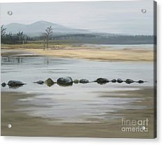 Acrylic Print featuring the painting Foggy Day by Ivana