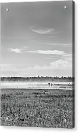 Foggy Day On A Marsh Acrylic Print