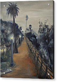 Foggy Day On Ocean Ave Acrylic Print by Lindsay Frost