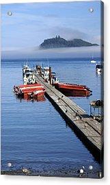 Foggy Dock Acrylic Print by Marty Koch