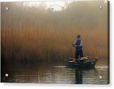 Foggy Fishing Acrylic Print