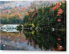 Acrylic Print featuring the photograph Foggy Foliage Morning Kinsman Notch by Jeff Folger