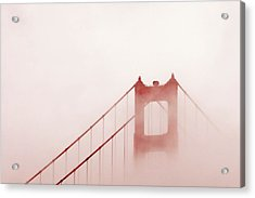 Acrylic Print featuring the photograph Foggy Golden Gate by Art Block Collections