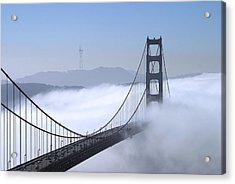 Foggy Golden Gate Bridge Acrylic Print
