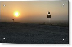 Acrylic Print featuring the photograph Foggy Hawkeye Sunrise  by Jame Hayes