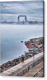 Foggy Lake Superior Afternoon Acrylic Print