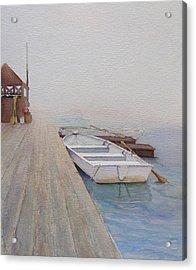Foggy Morn Acrylic Print by Judy Mercer