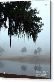 Foggy Morn Reflections Acrylic Print