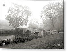 Foggy Morning At Burnside Bridge Acrylic Print by Judi Quelland