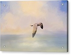 Foggy Morning At Sea Acrylic Print by Jai Johnson