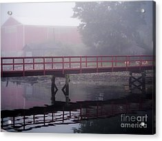Foggy Morning At The Bridge Acrylic Print