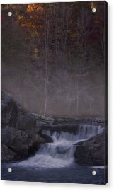 Acrylic Print featuring the photograph Foggy Morning At Linville Falls by Ellen Heaverlo