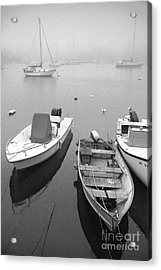 Foggy Morning In Cape Cod Black And White Acrylic Print by Matt Suess