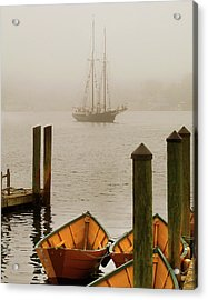 Foggy Morning In Gloucester Ma Acrylic Print