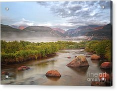 Foggy Morning In Moraine Park Acrylic Print