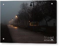 Foggy Morning Kew Beach Acrylic Print