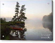 Foggy Morning On The Kawishiwi River Acrylic Print