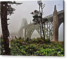 A Foggy Morning On Yaquina Bay Acrylic Print