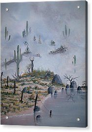 Foggy Morning Acrylic Print by Patrick Trotter