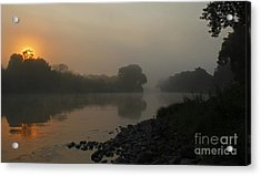 Foggy Morning Red River Of The North Acrylic Print