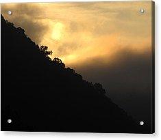Foggy Mountain Sunrise Acrylic Print